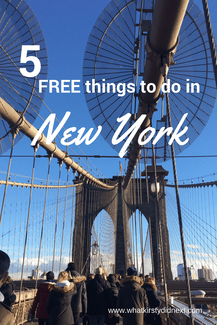 Five free things to do in new york what kirsty did next for Things to do in new yok