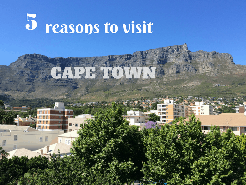 Five reasons to visit Cape Town