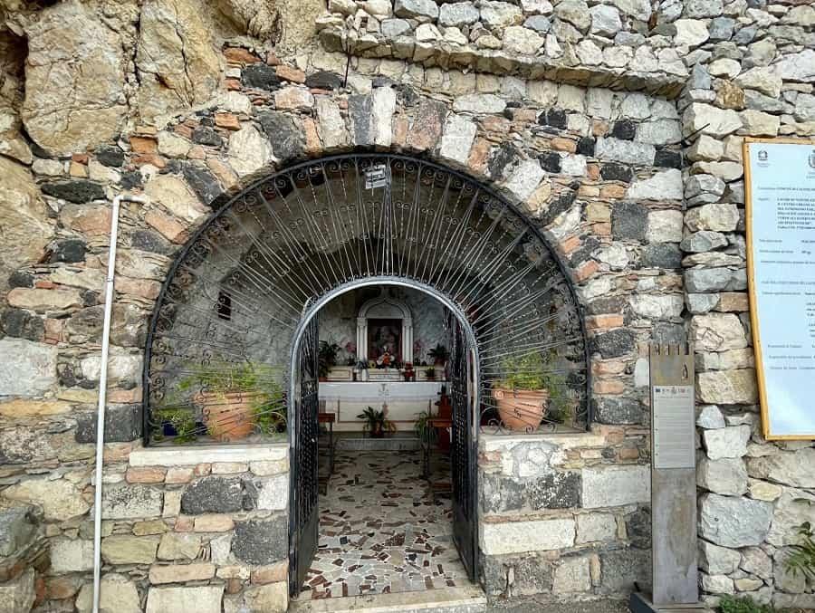 Church in a grotto in Castelmola