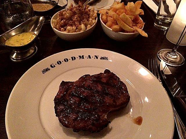 Dinner at Goodman in Mayfair