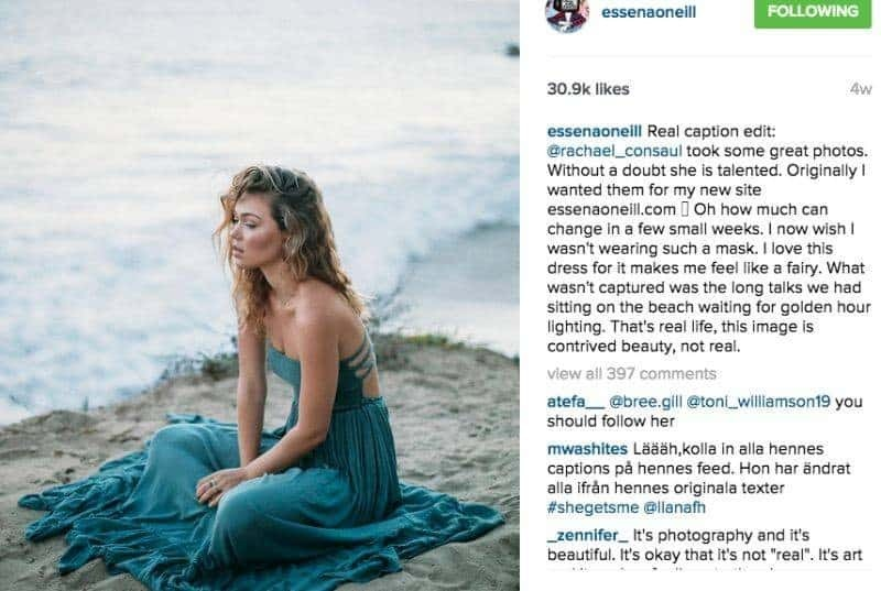 Essena O'Neill Instagram