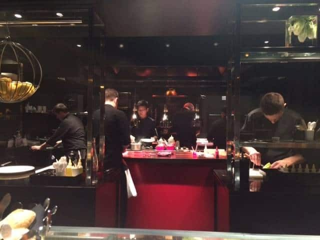 Bar counter at L'Atelier de Joël Robuchon