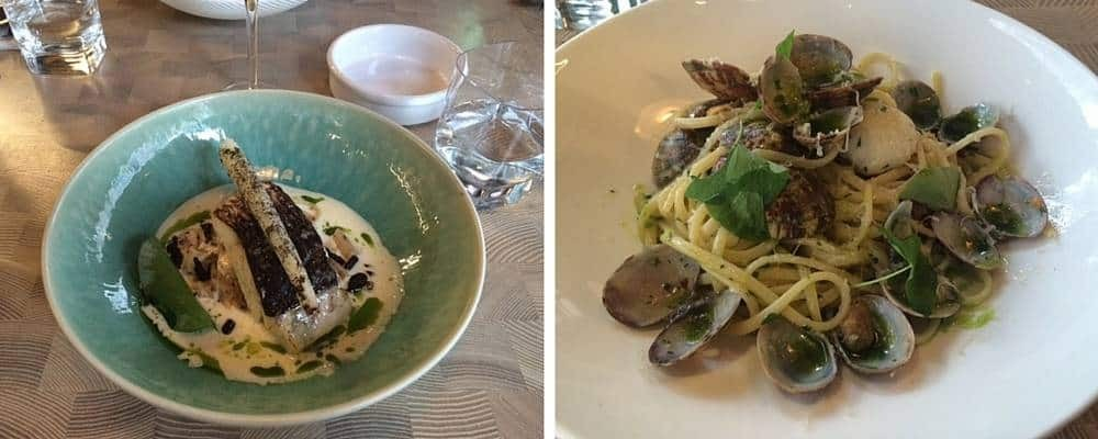 Mains at Four to Eight restaurant
