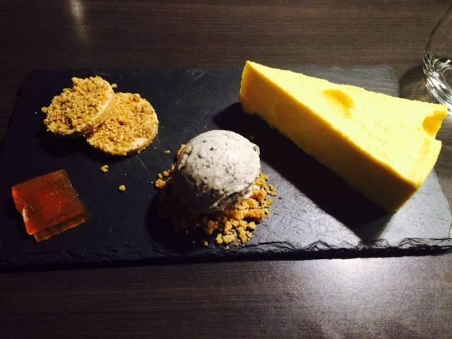 Mango and passionfruit cheesecake