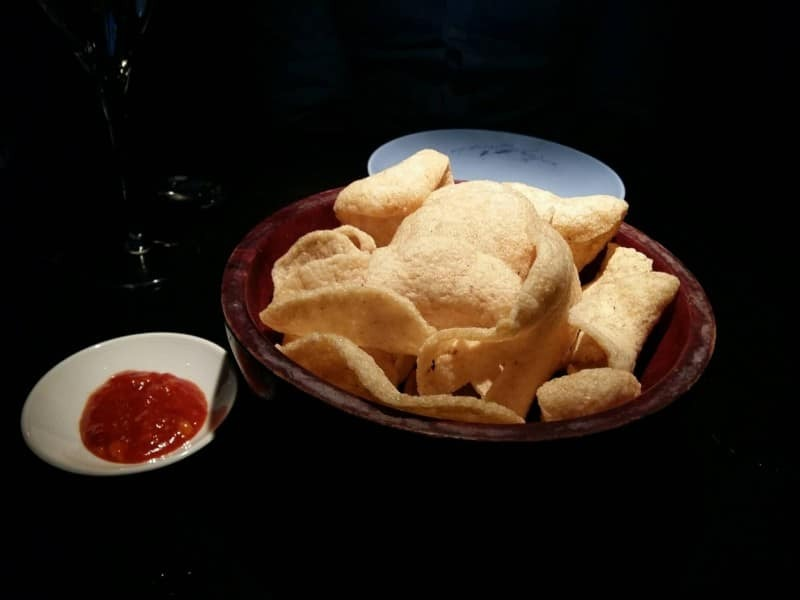 Prawn crackers at Hakkasan