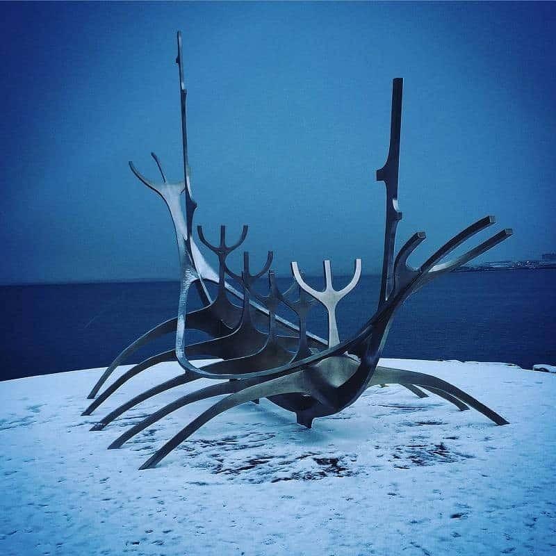 Solfar sculpture in Reykjavik