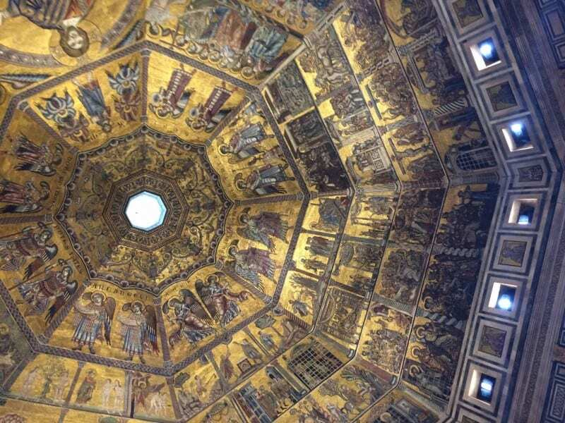 The ceiling in the Baptistry in Florence