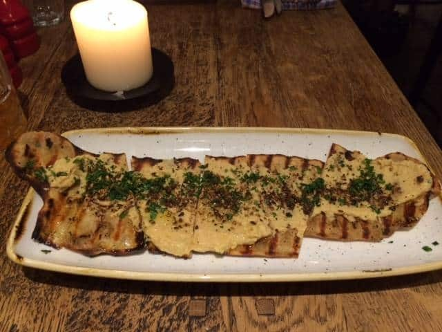Flatbread with hummus