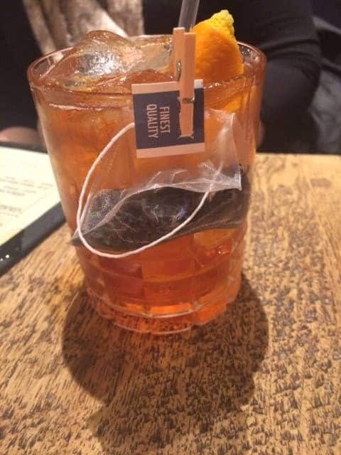 Tea Old Fashioned cocktail