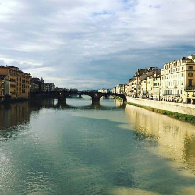 The view from Ponte Vecchio