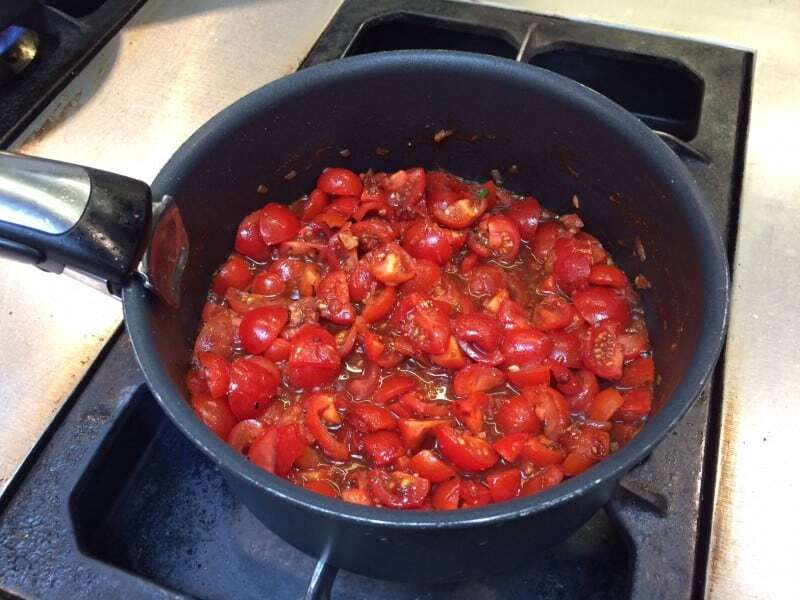 Tomato sauce for the frittata