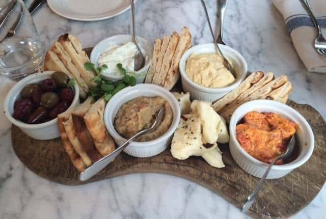 Mezze platter at The Summerhouse