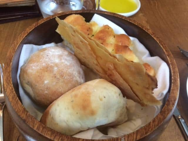 Freshly made bread at Latium