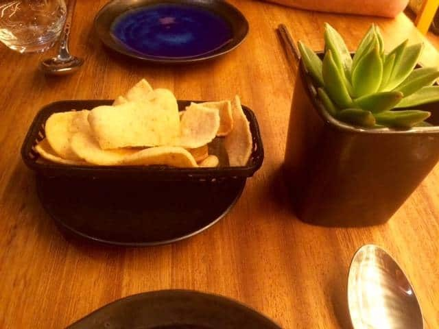Prawn crackers at Patara Hampstead