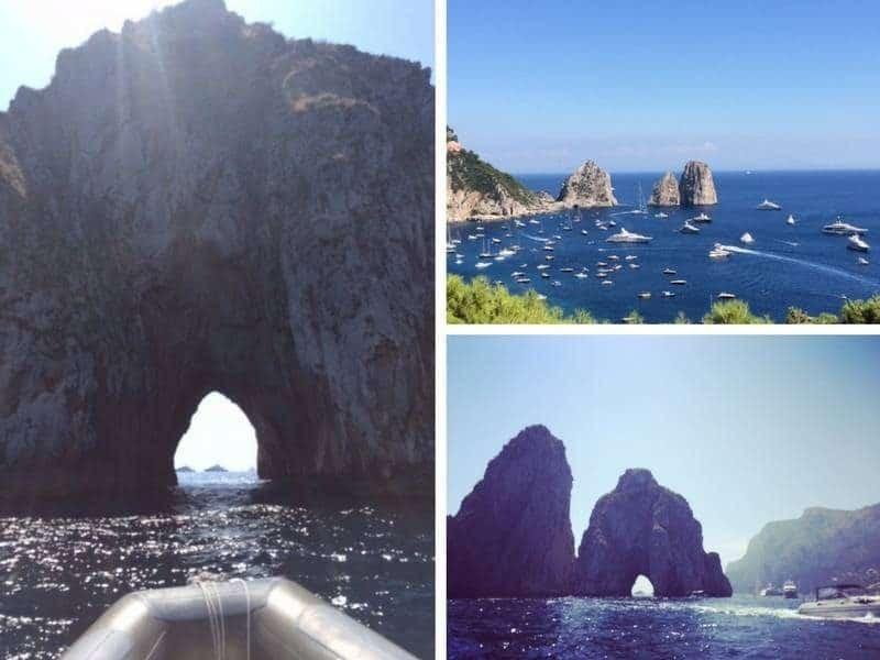 Capri's famous Faraglioni