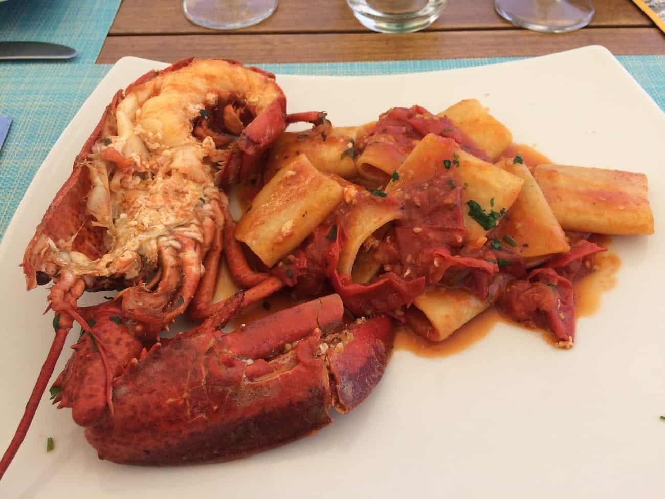 Lobster pasta from Casa Celestino