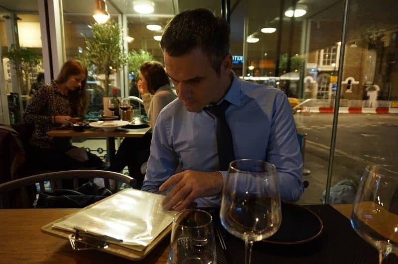 Wine menu
