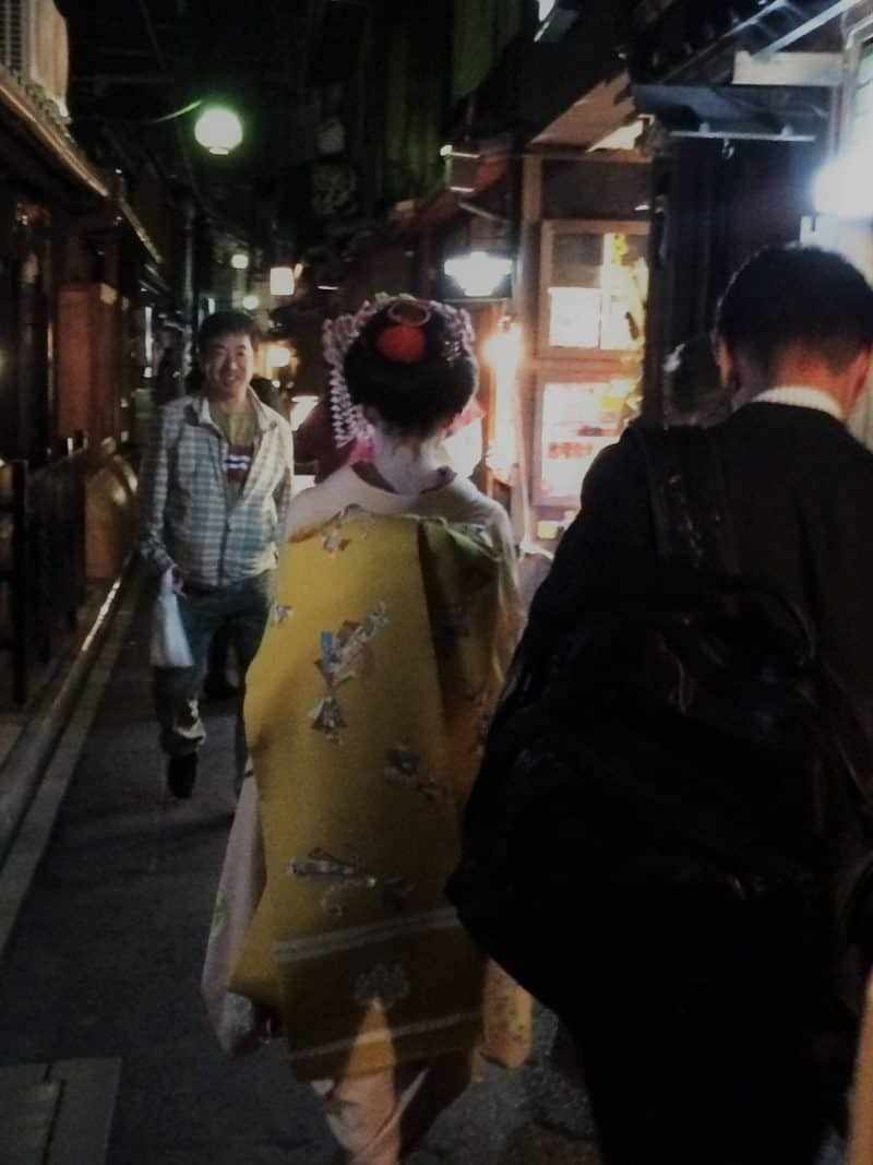 Geisha in Pontocho Alley