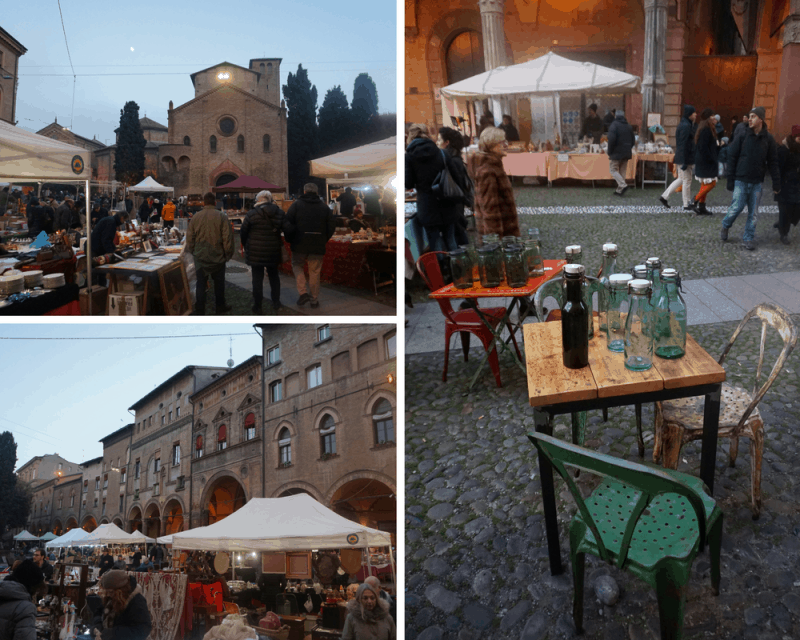 Market at Pizza Santo Stefano in Bologna
