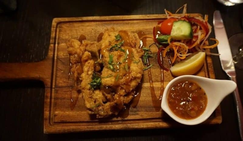 Soft shell crab starter