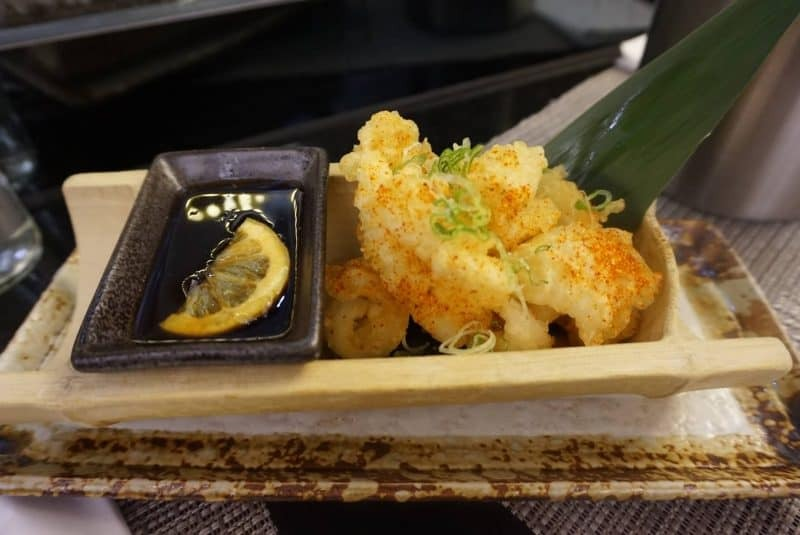 Tempura squid from Pan Chai