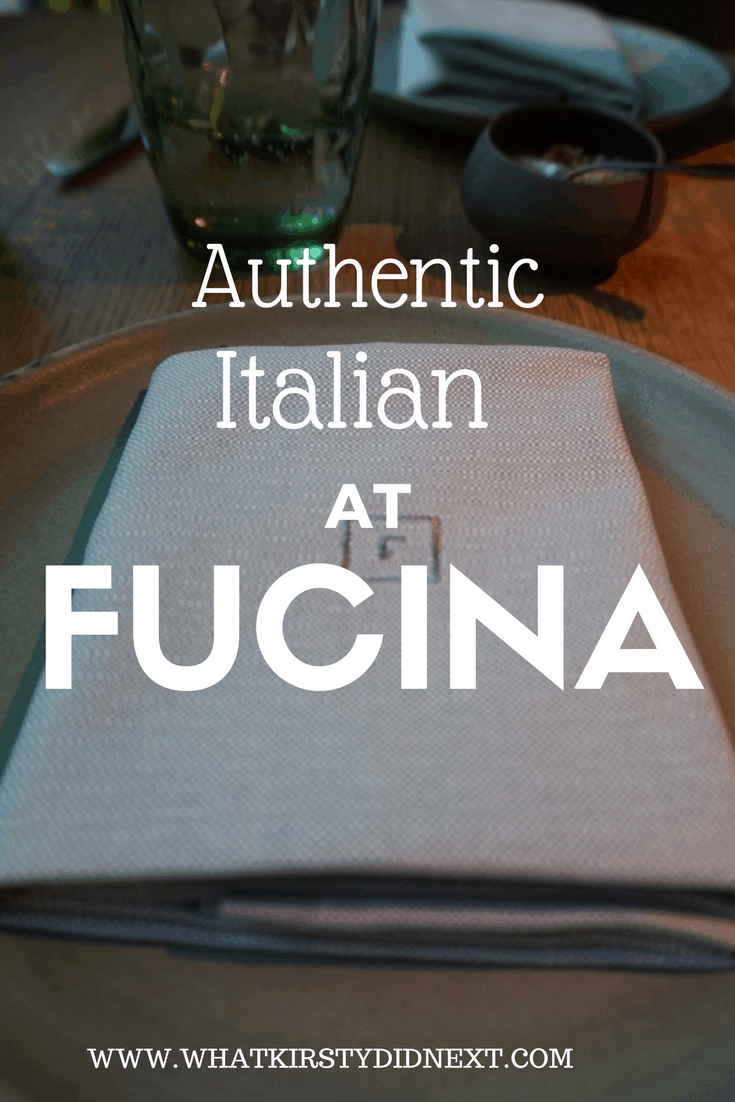 Authentic Italian at Fucina