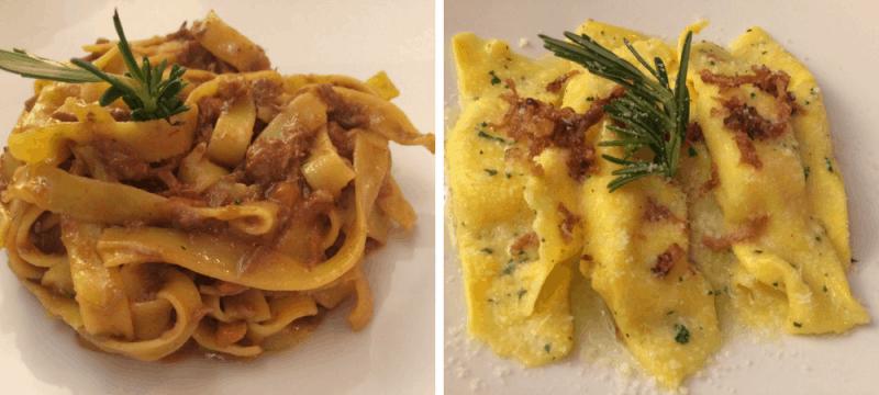 Pasta at Cantina del 15