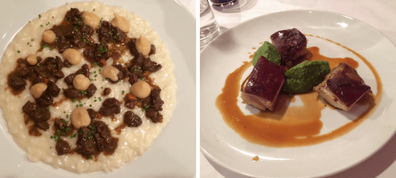 Risotto and pork from 4 Cuochi Verona