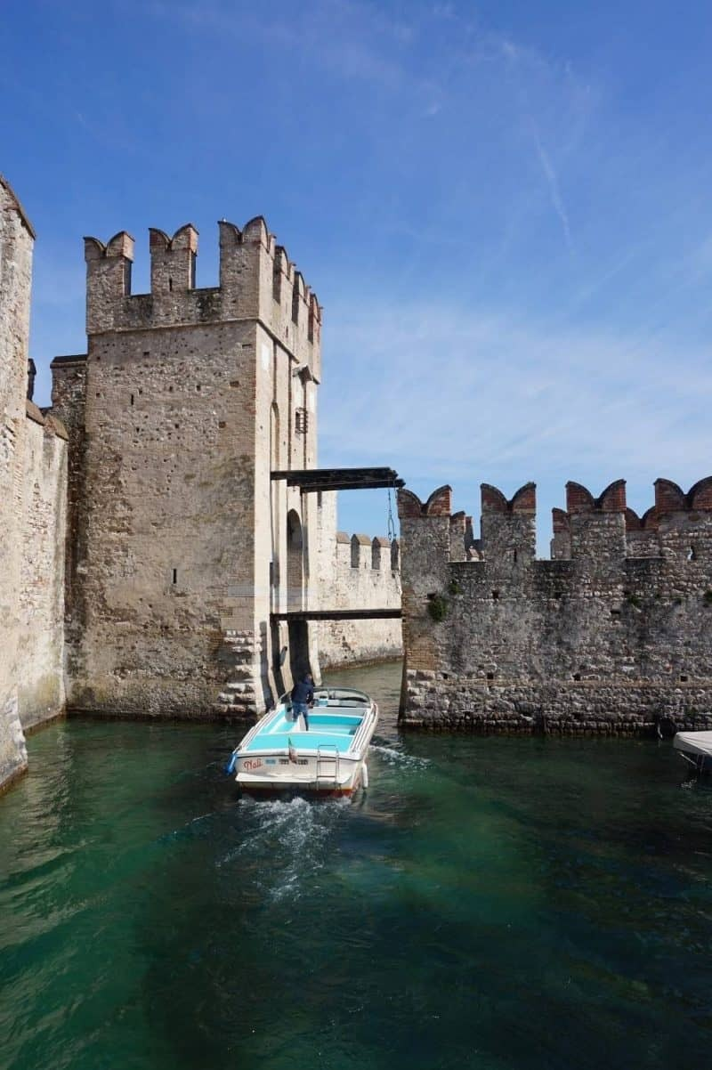 Sirmione Castle in Lake Garda