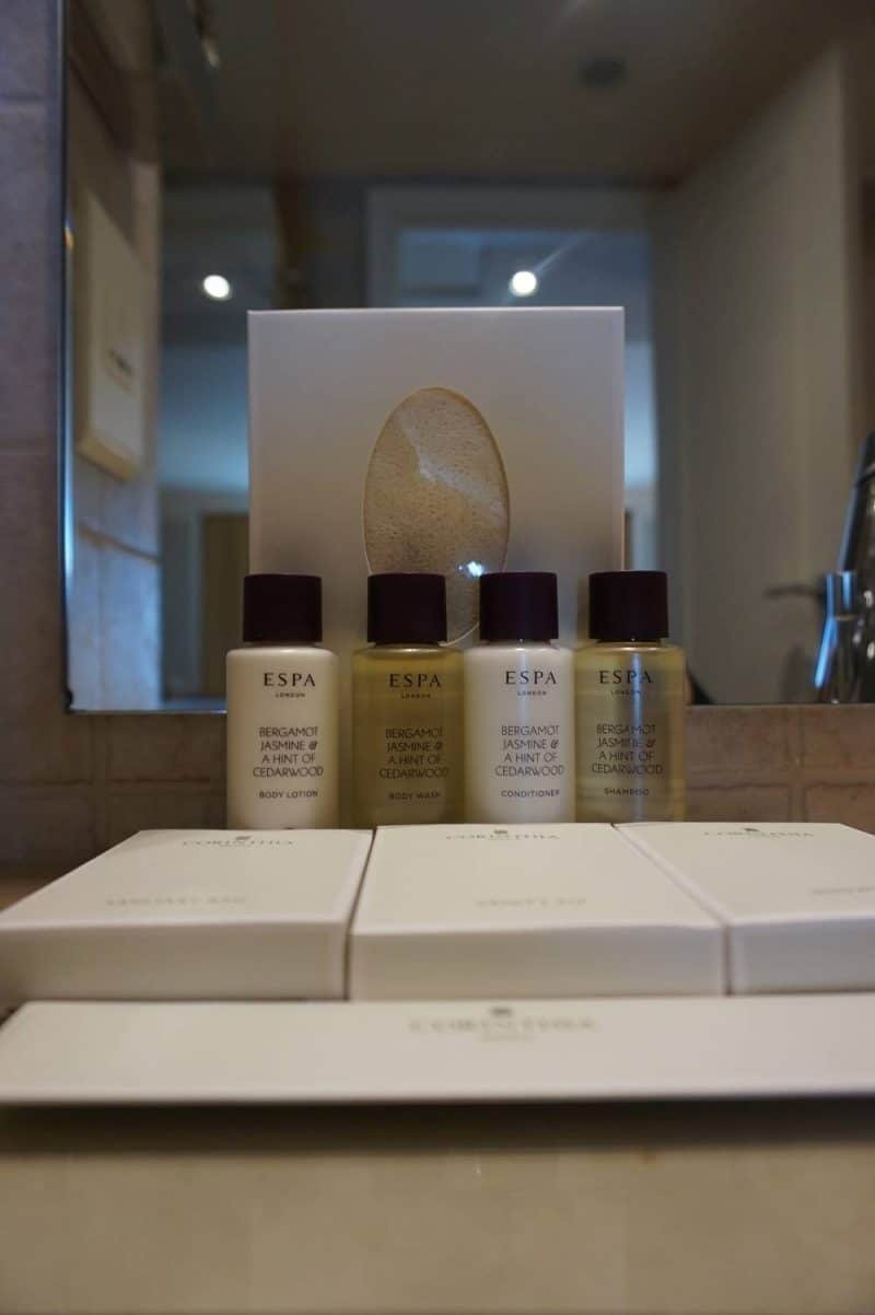 ESPA luxury toiletries