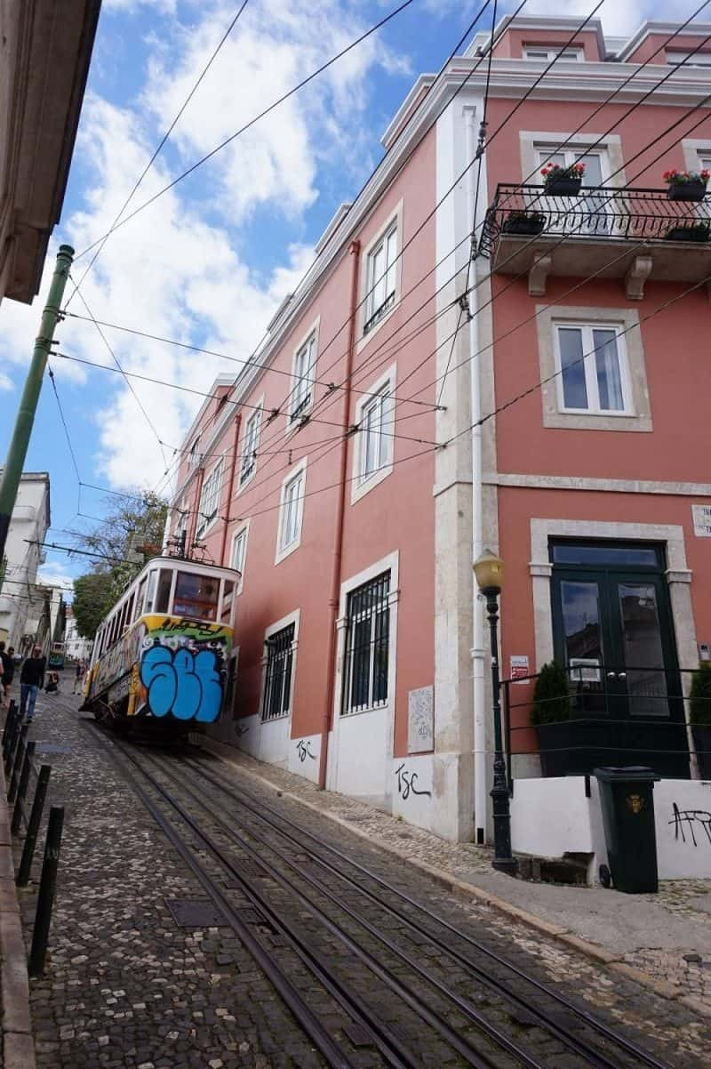Elevador da Gloria in Barrio Alto