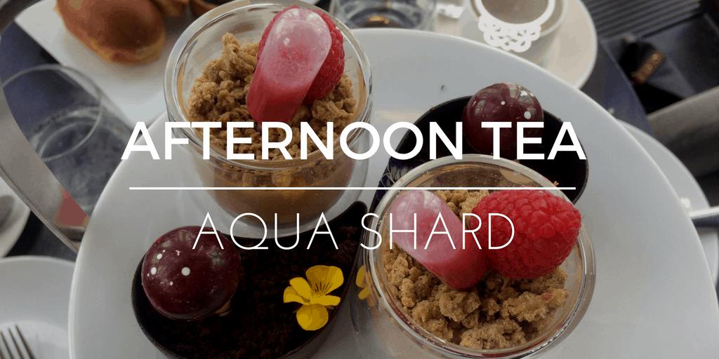 Afternoon tea at Aqua Shard