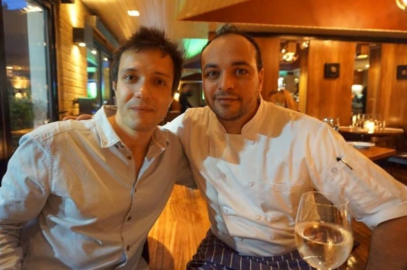Alex Mih and Head Chef Rasheed