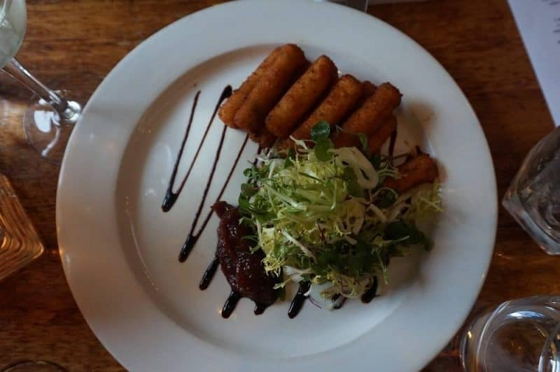 Fried goats cheese from The Waterway