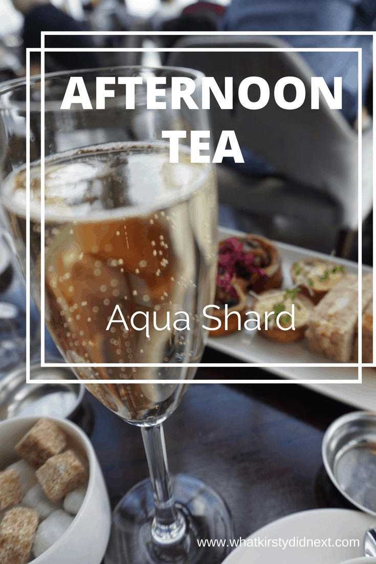 Luxury champagne afternoon tea at Aqua Shard