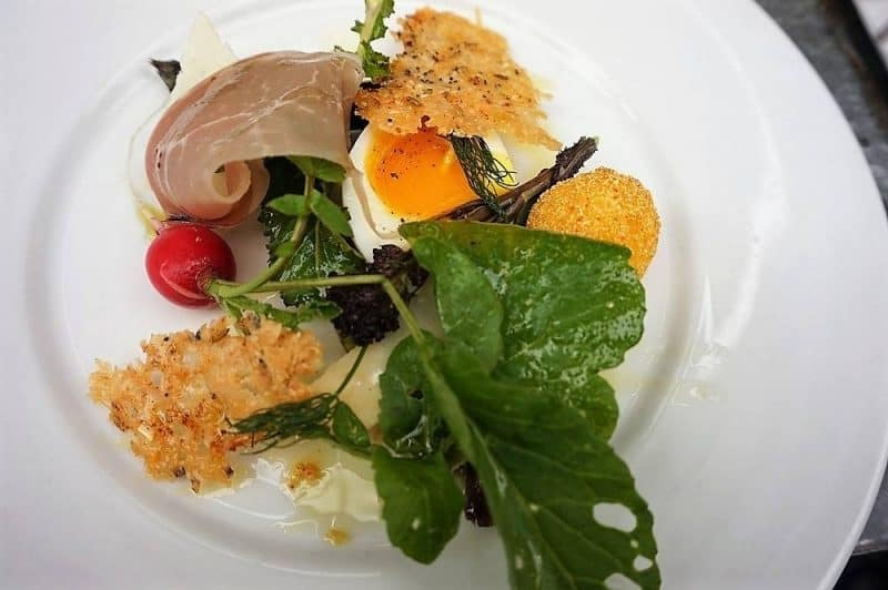 Starter by chef Damian Clisby