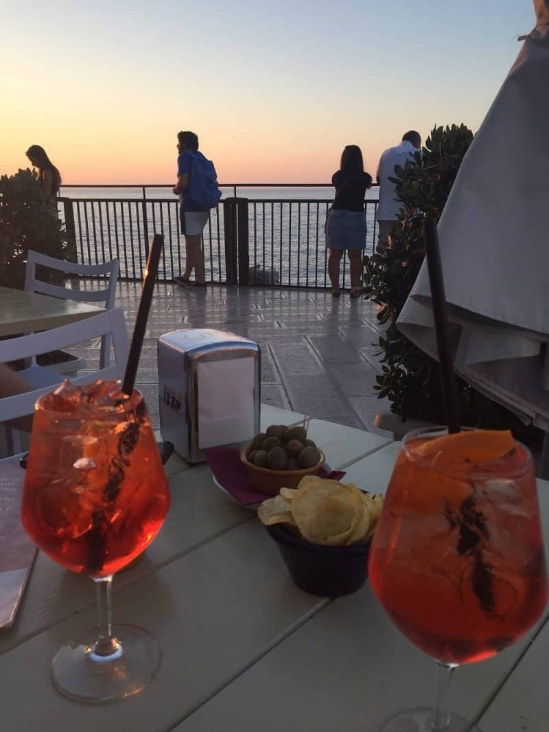 Aperitivo in south Italy