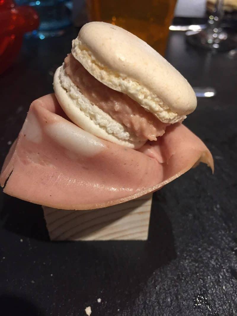 Mortadella macaroon