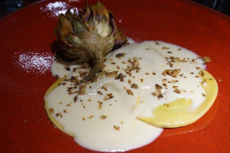 Ravioli with artichokes