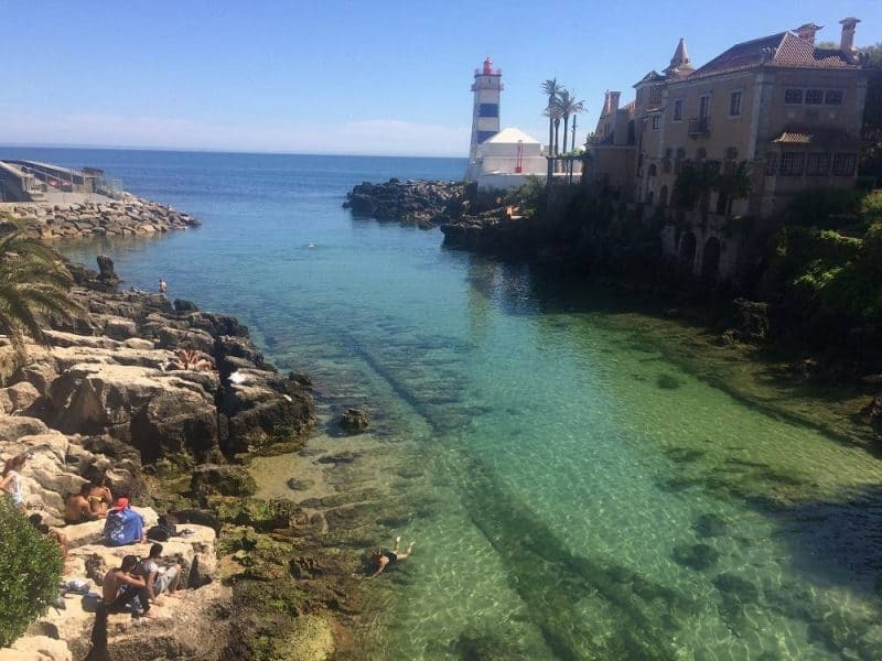 Swimming spot in Cascais