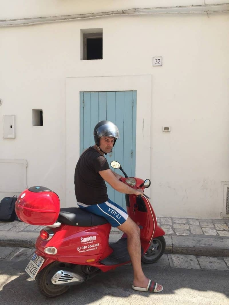 scooter in Polignano