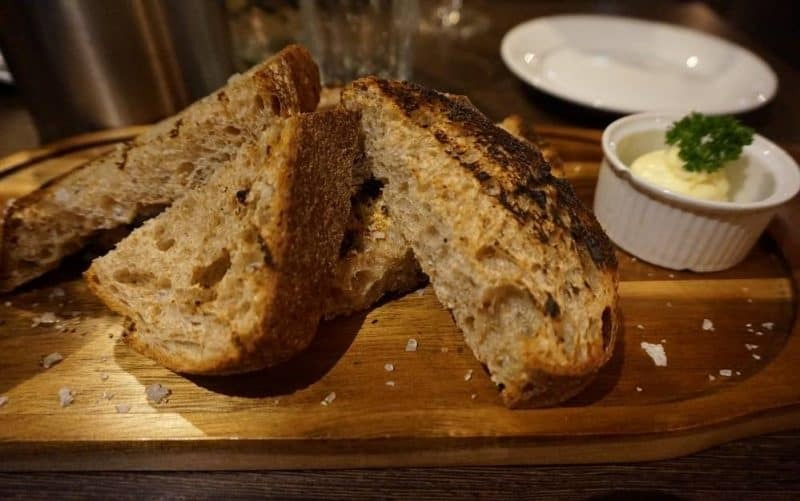 Grilled sourdough bread