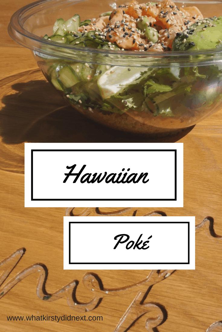Hawaiian poke from Ahi Poke in London