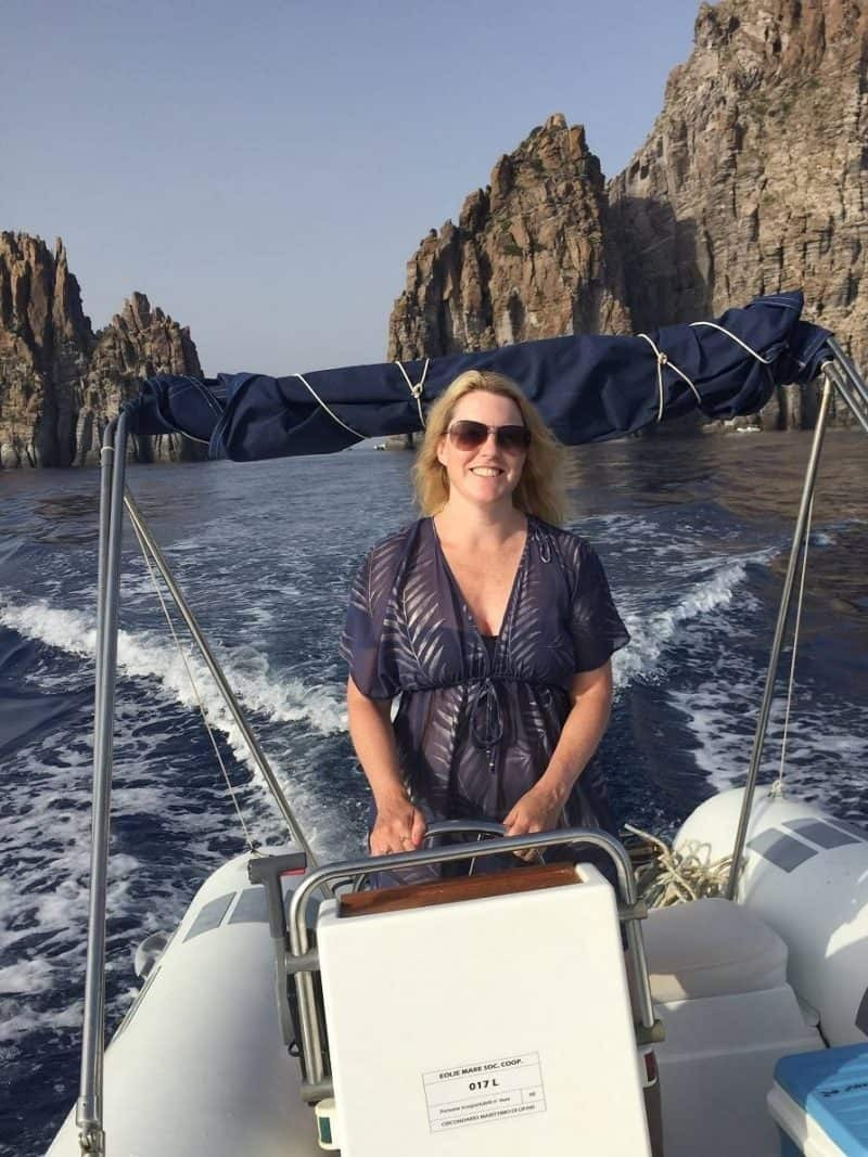Hiring a boat in Panarea