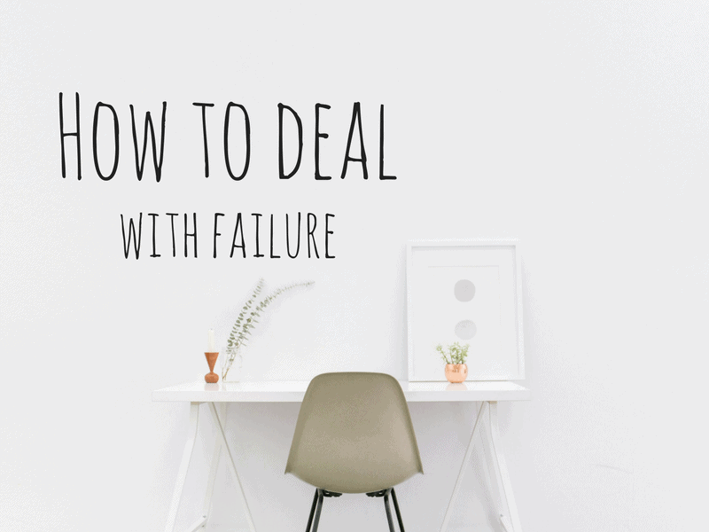 Five tips to deal with failure
