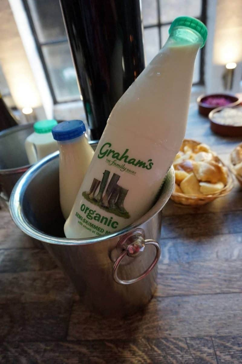 Graham's Family Dairy milk in an ice bucket