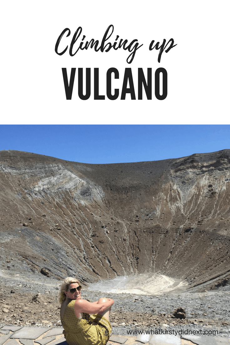 Climbing up volcano in Italy