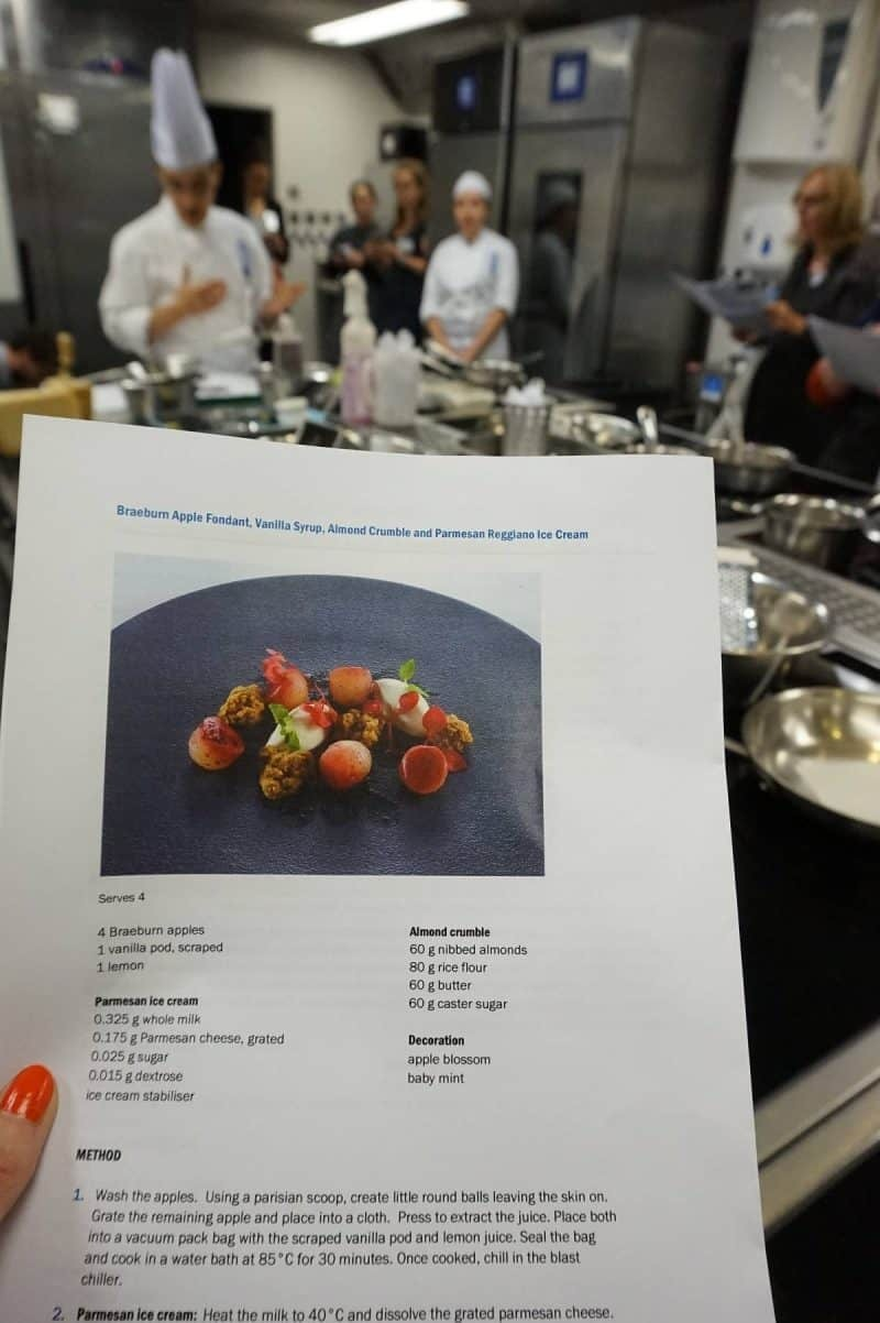 Parmigiano Reggiano cooking workshop at Le Cordon Bleu