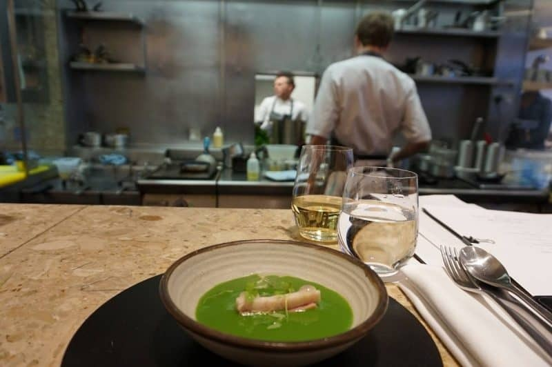 Parsley soup with smoked eel from The Test Kitchen