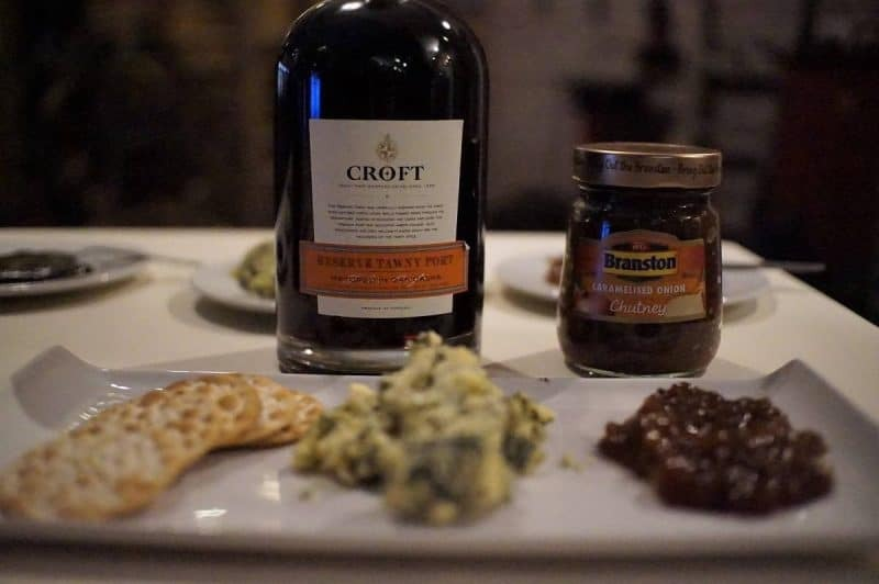 Port with Stilton and Branson chutney